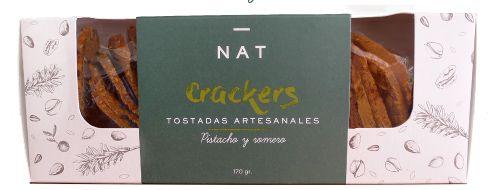 NAT Crackers - Pistacho y Romero