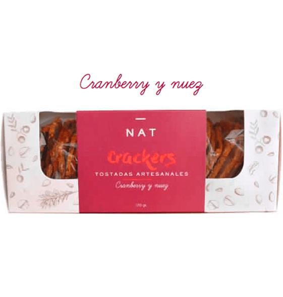 NAT Crackers - Cranberry y Nuez