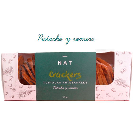 NAT Crackers - Pistacho y Romero