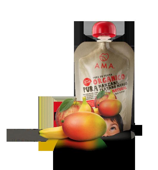 AMA Pure Manzana - Plátano - Mango