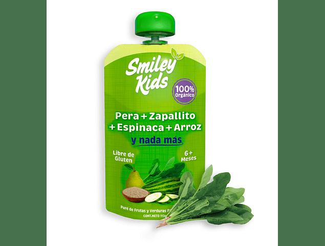 Pure de Pera, Zapallito, Espinaca y Arroz