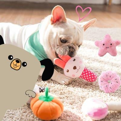 Juguetes y accesorios para perros