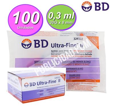 JERINGA INSULINA BD 30G - Vol 0,3 ml1
