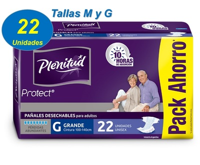 PAÑAL ADULTO PLENITUD PROTECT 1