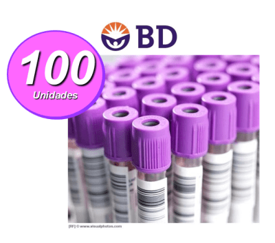 TUBO MUESTRA VACUTAINER COLOR LILA 6 ML 1