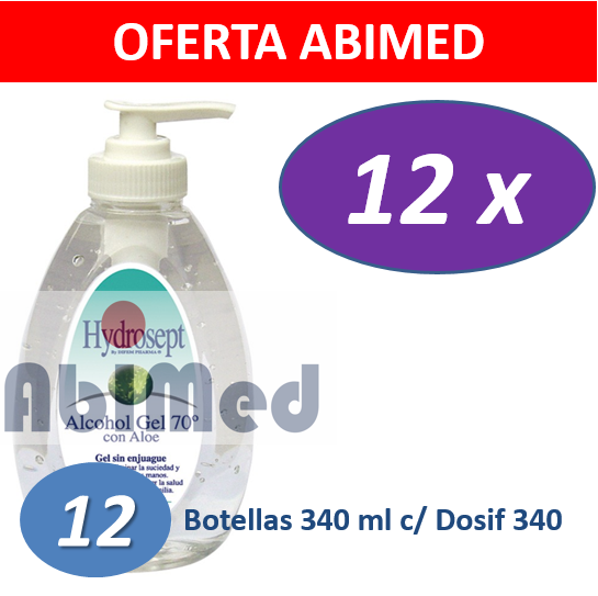 ALCOHOL GEL DIFEMPHARMA 340 ML C/ DOSIFICADOR