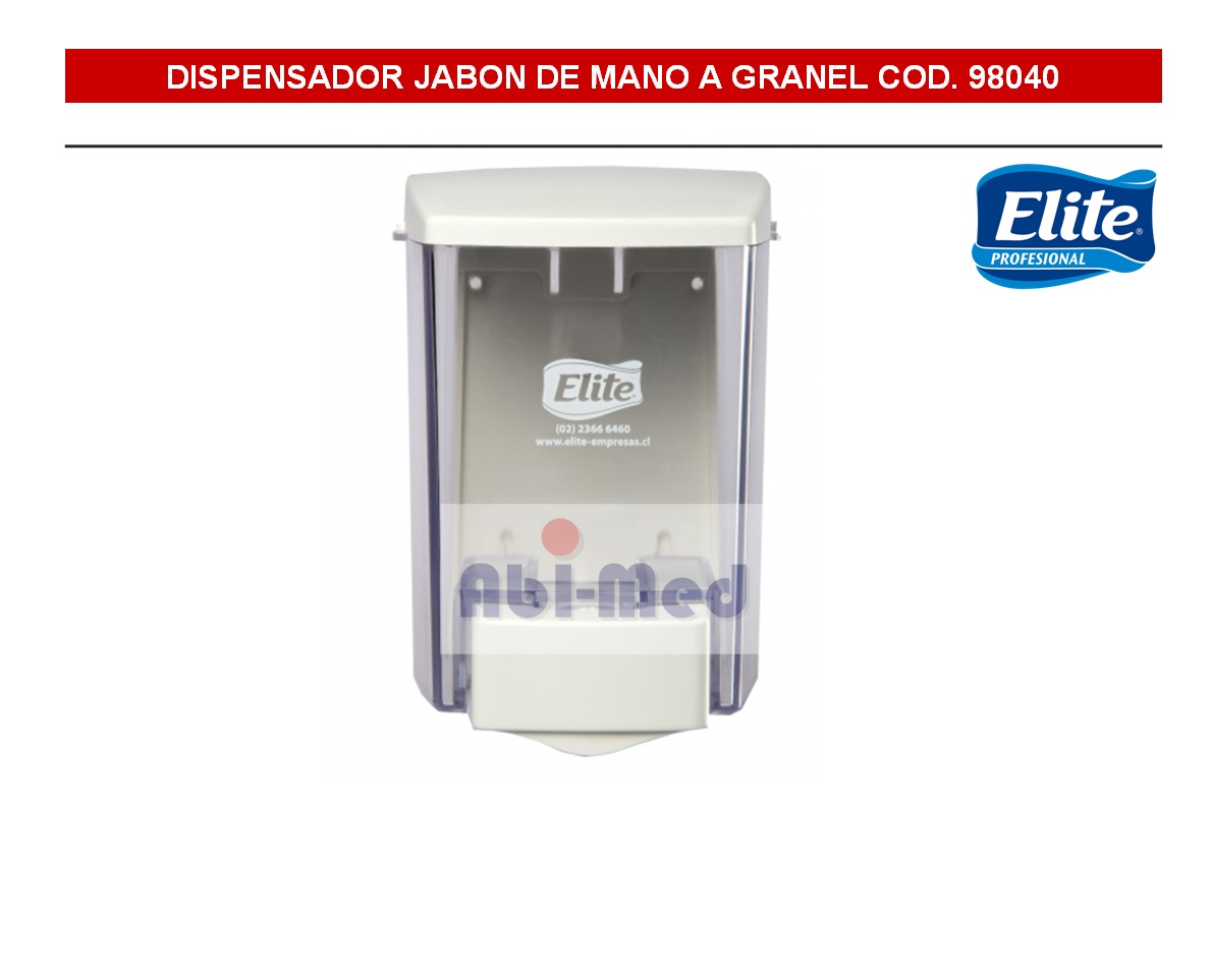 DISPENSADOR JABON ELITE A GRANEL