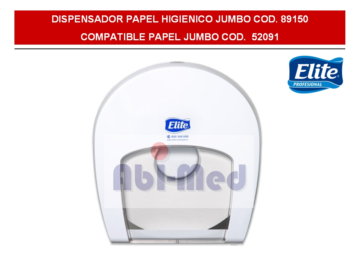 DISPENSADOR PAPEL HIGIENICO JUMBO ELITE