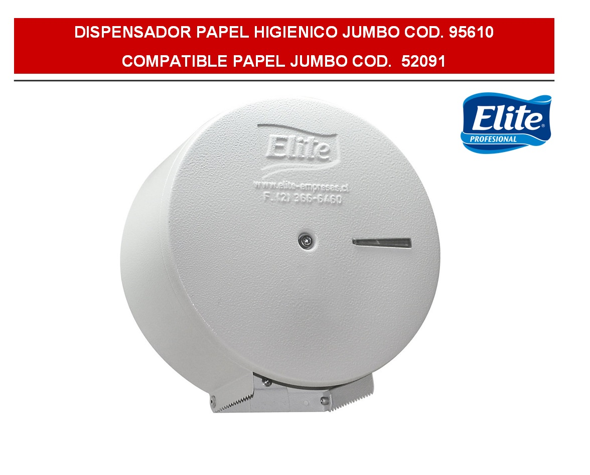 DISPENSADOR PAPEL HIGIENICO JUMBO