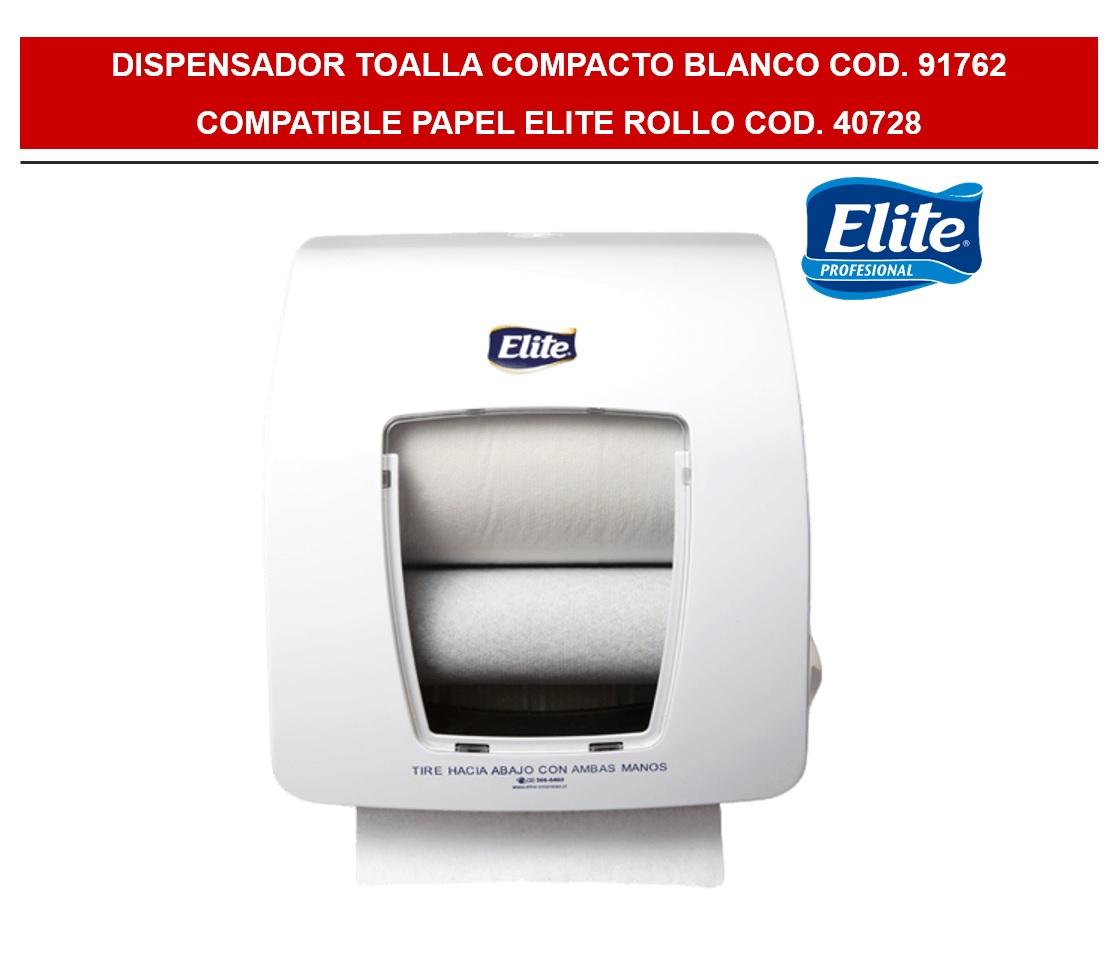 DISPENSADOR ELITE TOALLA MANO BLANCO COMPACTO DYNA