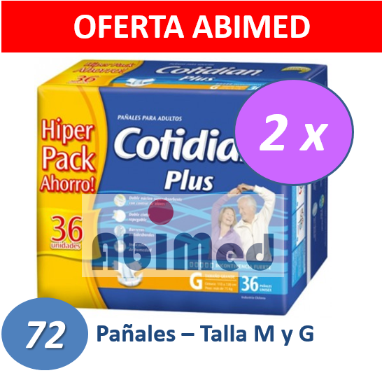PAÑALES ADULTO COTIDIAN PLUS