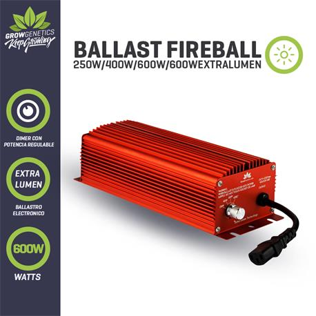 Grow Genetics - Ballast electronico regulable 600w Fireball