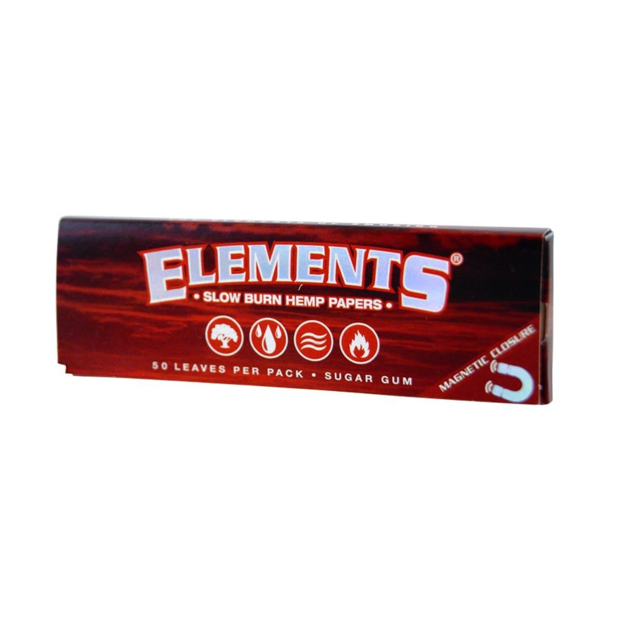 Elements - Papelillo Cañamo Rojo 1 1/14
