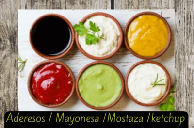 aderesos mayonesas mostazas ketchup