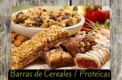 barras de cereales y proteicas