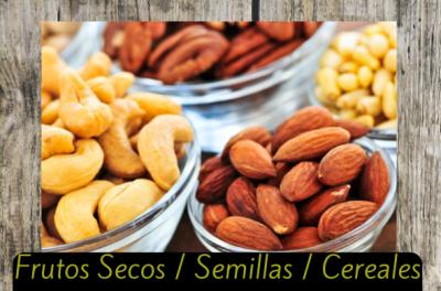 frutos secos semillas cereales