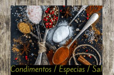 condimentos especias sal