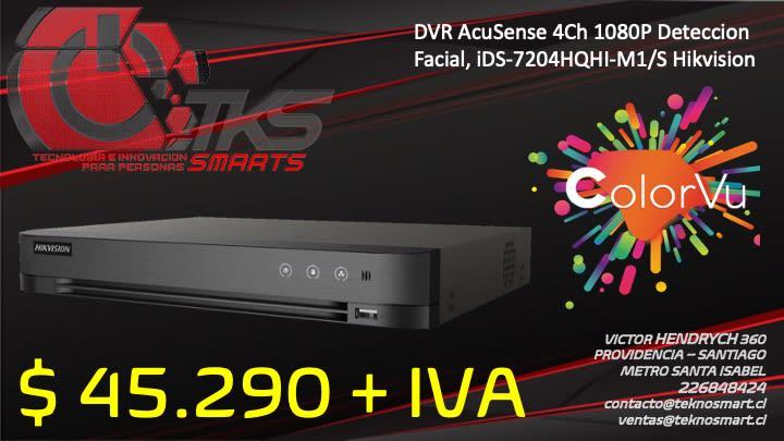 dvr acusense 4ch 1080p deteccion facial ids 7204hqhi m1 s hikvision