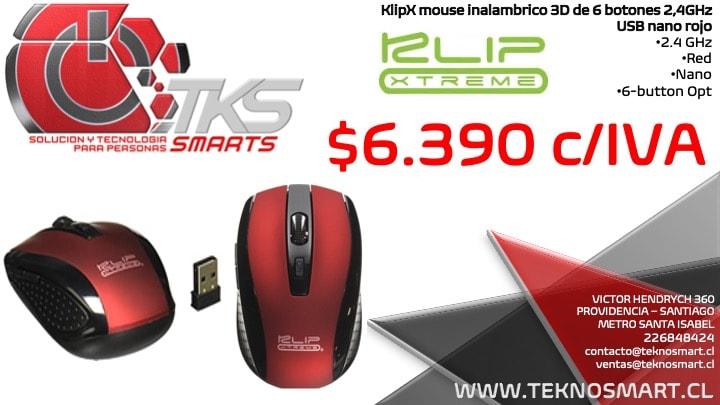 mouse inalambrico klipx 6 botones