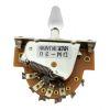 Switch 3-Way Abierto para Telecaster. Mod: DM-30 WHT. Perilla White