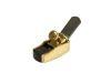 Mini Cepillo Bronce - Ebano. Base Curva  38mm x 17mm