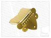 Tiracuerda para Mandolina. Color: Gold