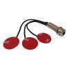 Piezo Electrico de 3 Microfonos con Jack tubular + Strap Pin