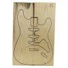 Set Único Nº 25 de Ash Americano para Cuerpo de Guitarra
