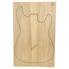 Set Único Nº 28 de Ash Americano para Cuerpo de Guitarra