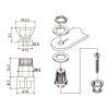Strap Pin Locking. Black. EPR-2 (1 pc) 2
