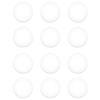 Dots de Acrilico de 6 mm. Color White  ( 12 pcs )