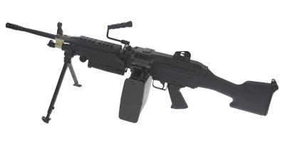 Replica de soporte A&K AEG modelo M249 MKII BLACK1