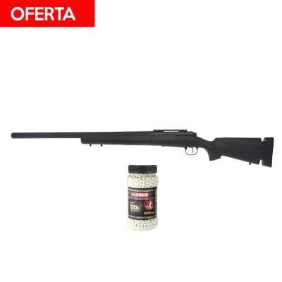 #Oferta Pack A&K M24 Spring + 2000 balines 0.30 6mm1