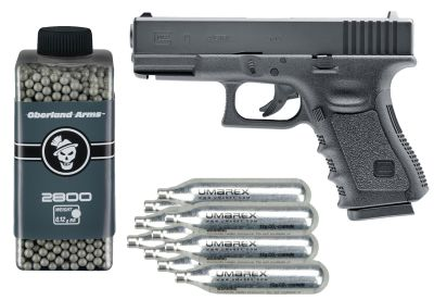 PACK Réplica Glock 19 cal 6mm +2800 balines +10 Co21