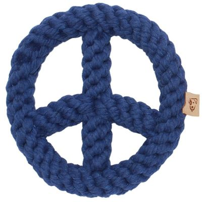 Jax&Bones Rope Toy Blue Peace Sign 7in