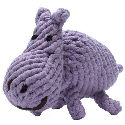 Jax&Bones Rope Toy Hippo 8in