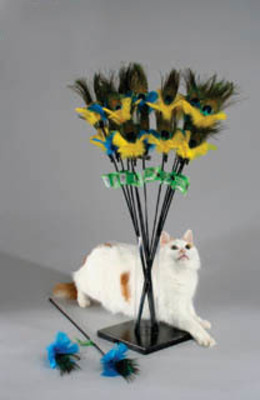 Purrfect Peacock Feather Cat Toy