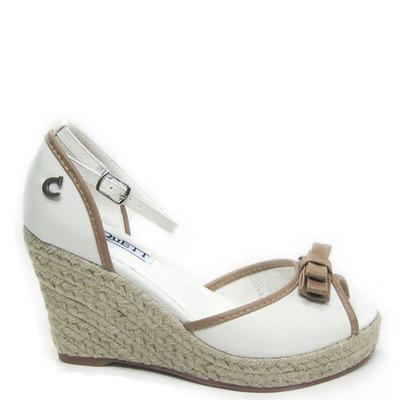 zapato Taco de Yute, Cinta Blanco
