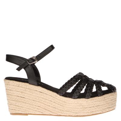Sandalia Trenzada Yute negra