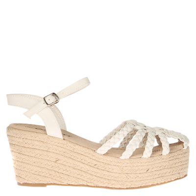 Sandalia Trenzada Yute blanca