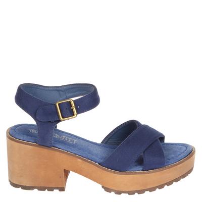 Sandalia Cruzada azul