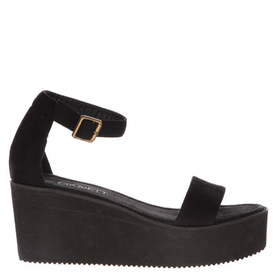 Sandalia Una Tira Elegante negra