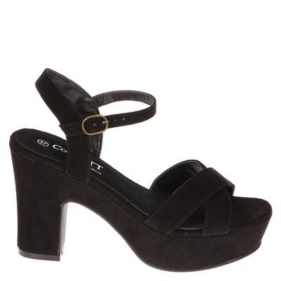 Sandalia Elegante Cruzada negra