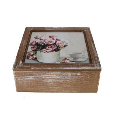 Caja TE x4 Rosas