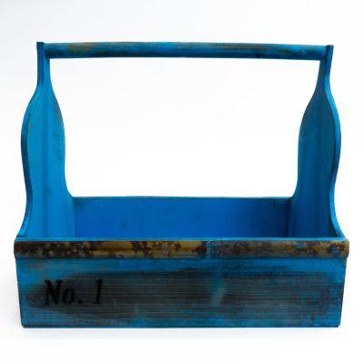 Canasto madera azul