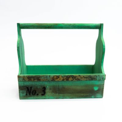 Canasto madera verde