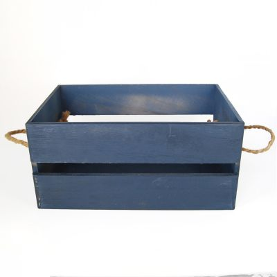 Caja madera Azul mediana