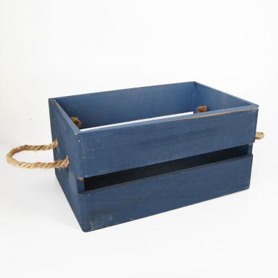 Caja madera Azul pequeña