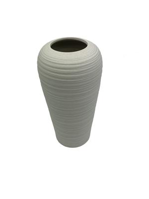 Florero cerámica blanco