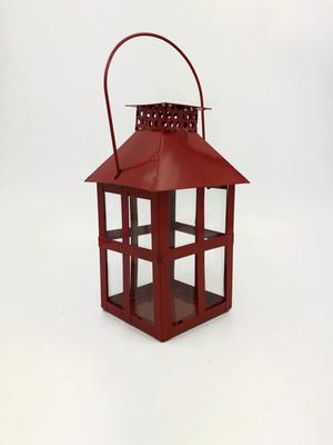 Farol candelabro decorativo rojo